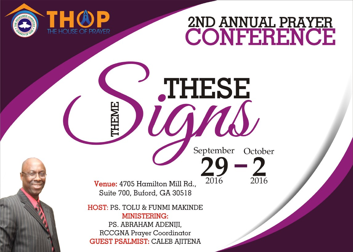 2016 Prayer Conference - FRONT